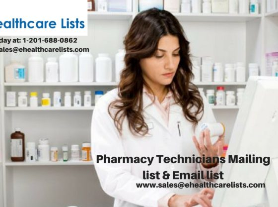 Pharmacy Technicians Mailing List | Pharmacy Email List