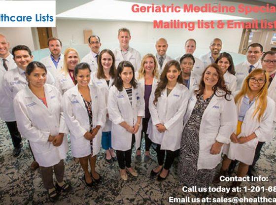 Geriatric Medicine Specialists Mailing List